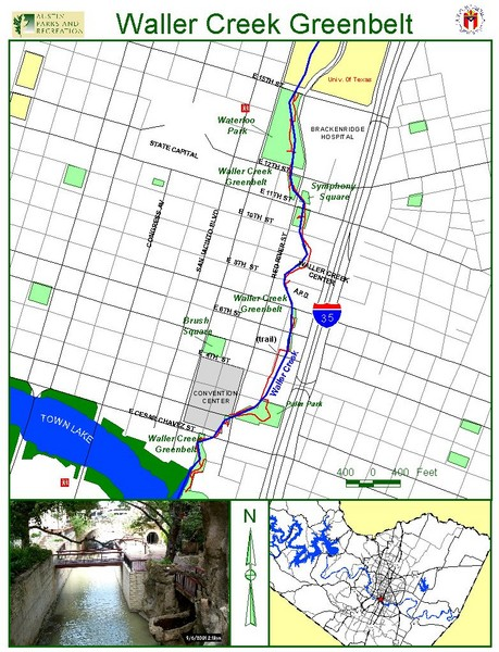 Waller Creek Greenbelt Map