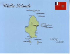 Wallis Islands Postcard Map