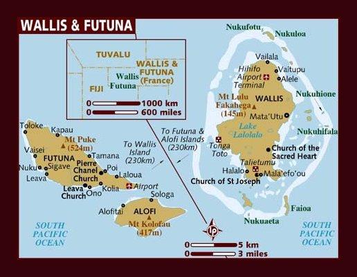 Wallis and Futuna Map Wallis and Futuna mappery