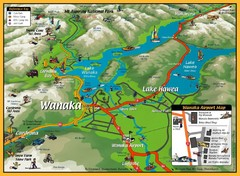 Wanaka Area Tourist Map