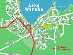 Wanaka Town Map