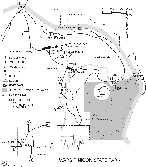 Anamosa State Park State Park Map