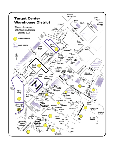 Warehouse District, Minneapolis Map