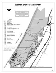 Warren Dunes State Park, Michigan Site Map