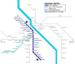 Warsaw Metro Map
