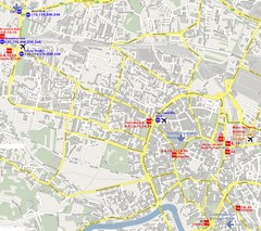 Warsaw, Poland Tourist Map