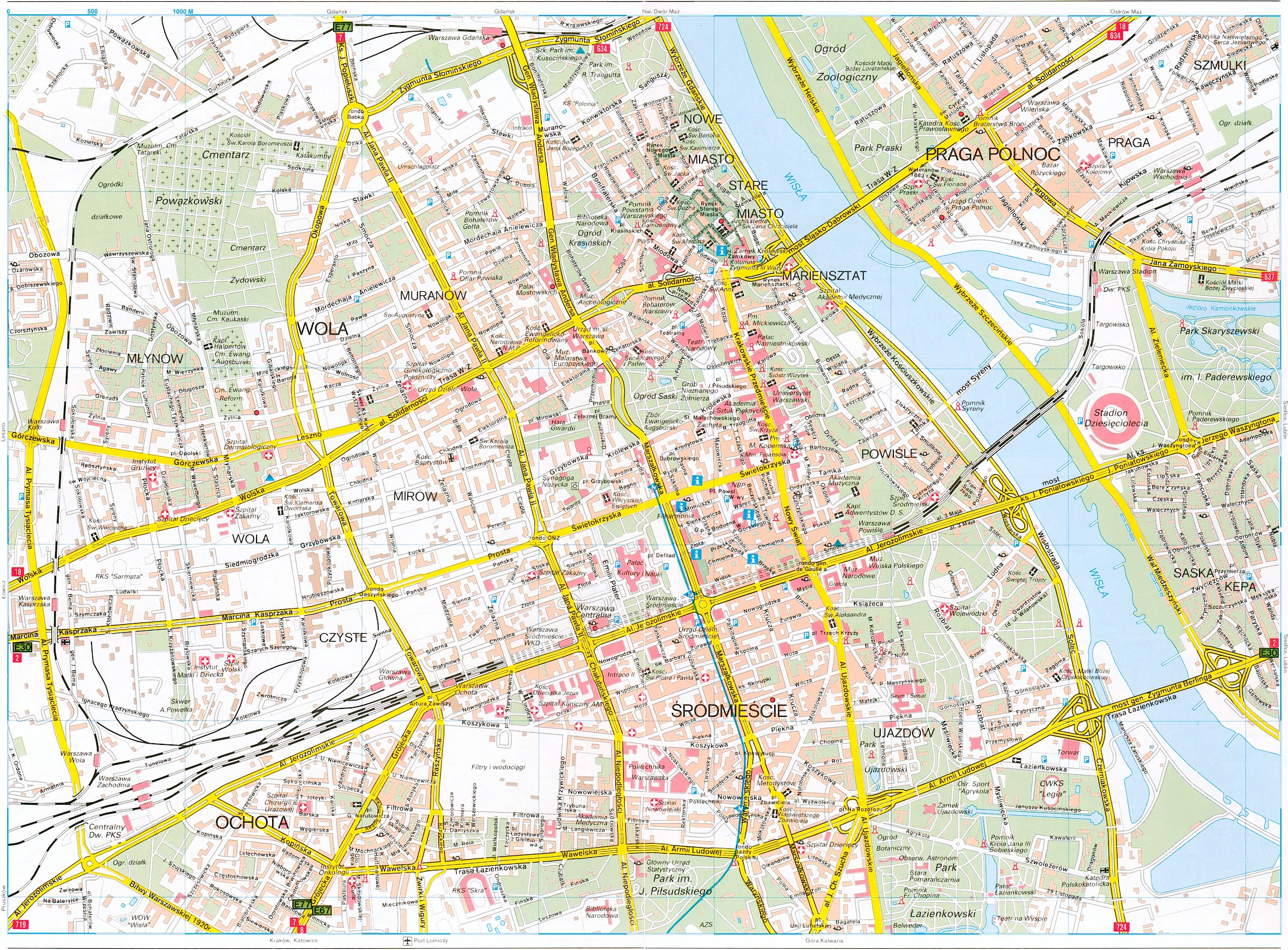 Warsaw Tourist Map - Warsaw Poland • mappery