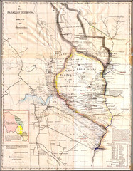 Wartime map of the Chaco