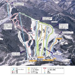 Washigatake Ski Trail Map