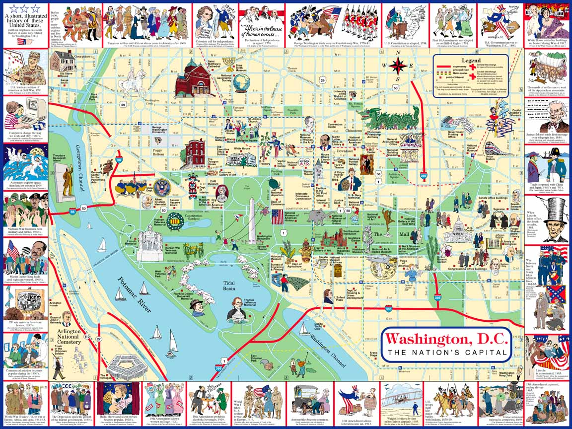 HttpmapperycommapsWashington DC City Map 2jpg
