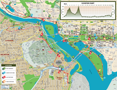 Washington D.C. Marine Corps Marathon Course Map...