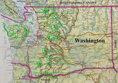 Washington State Road and Recreation Map