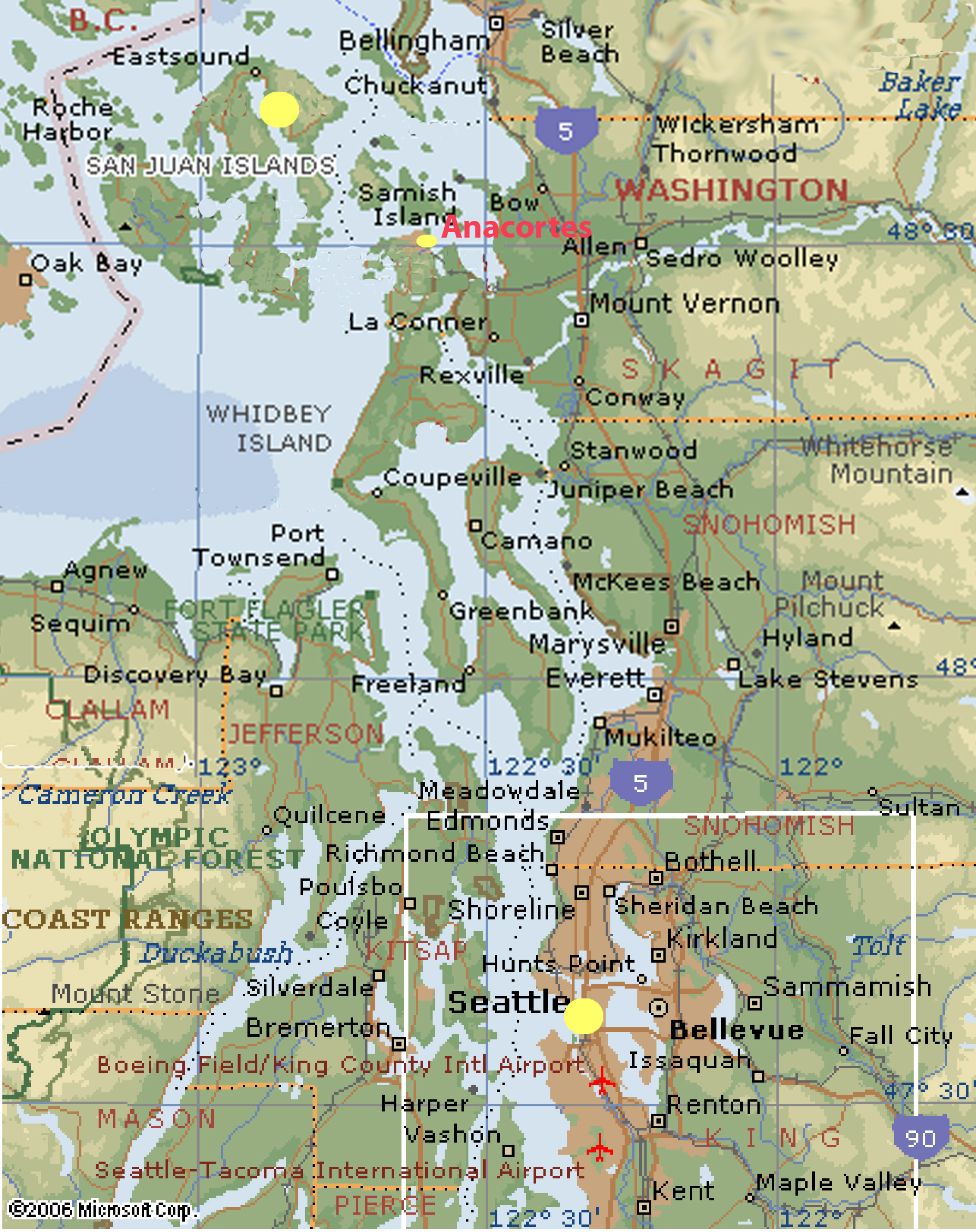 Washington state west coast map see map details from lasp colorado