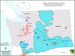 Washington Steelhead Salmon Map