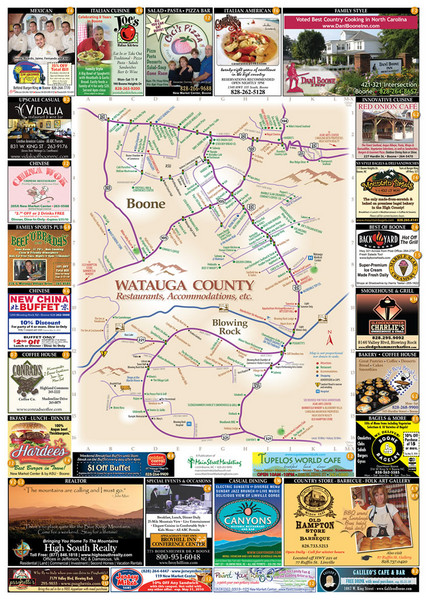 Watauga County Attractions Map - Boone NC • mappery on food delivery nearby, attractions nearby, parks nearby, japanese gardens nearby, cafes nearby,