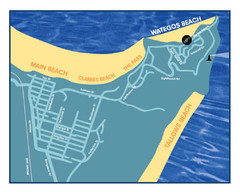 Wategos Beach, Australia Beach Map
