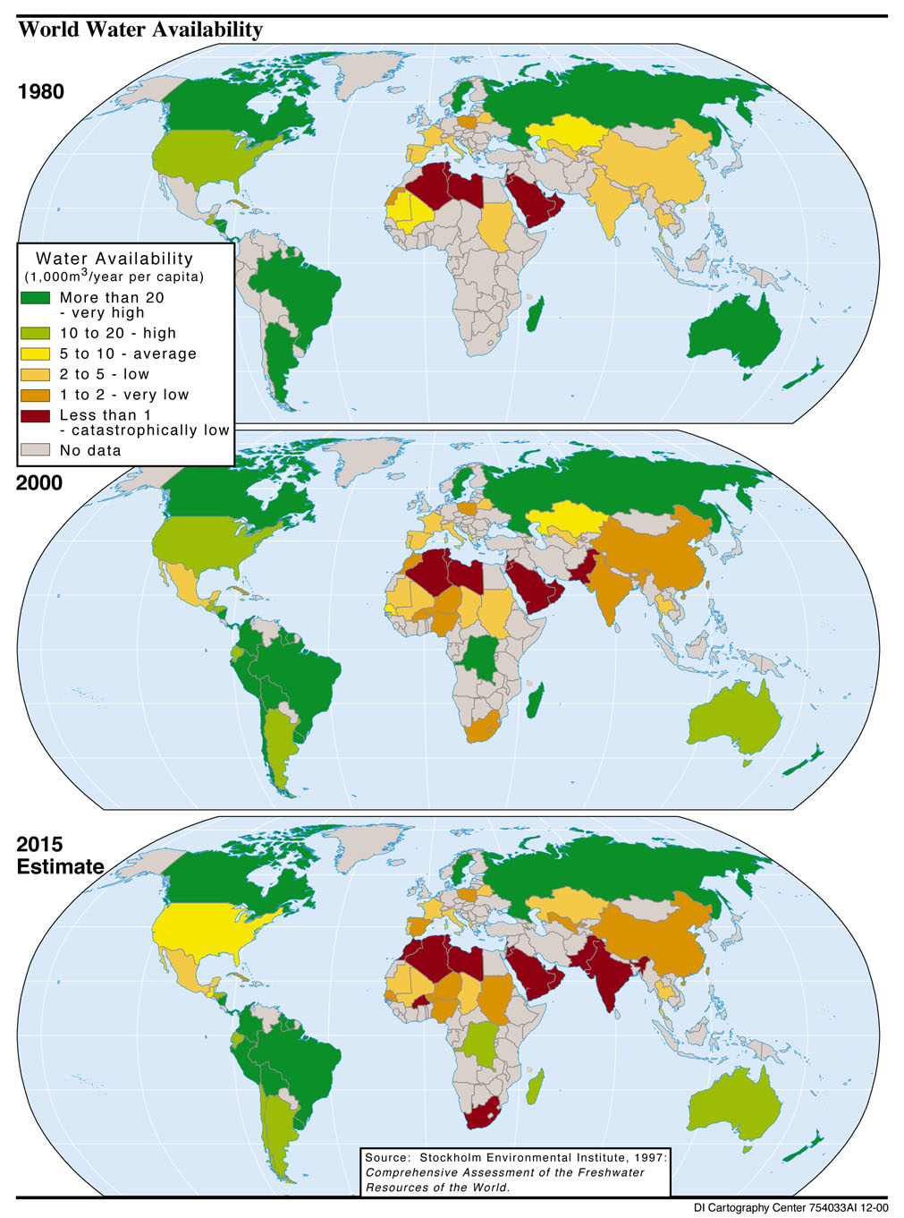Water Availability World Map World mappery