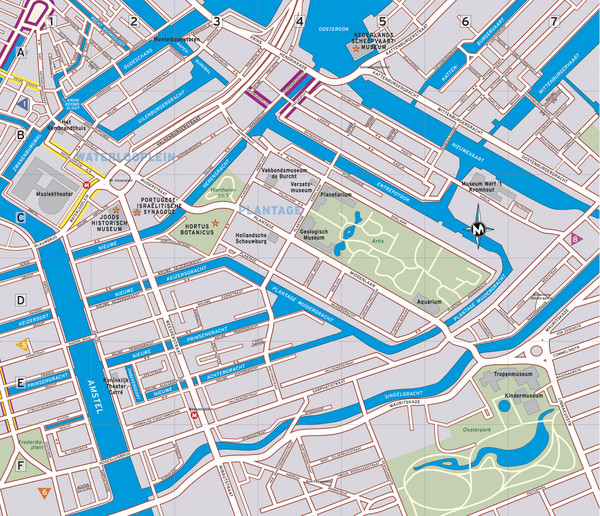 Amsterdam maps mappery – Tourist Map Of Amsterdam