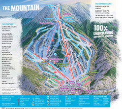 Waterville Valley Ski Trail Map