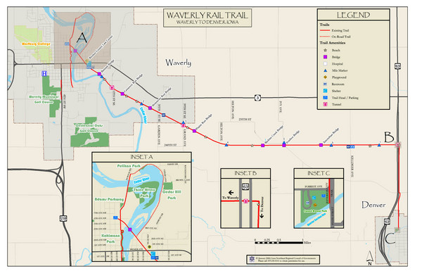 Waverly Rail Trail Map