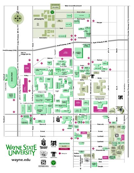 Wayne State University Map Wayne State University Mappery