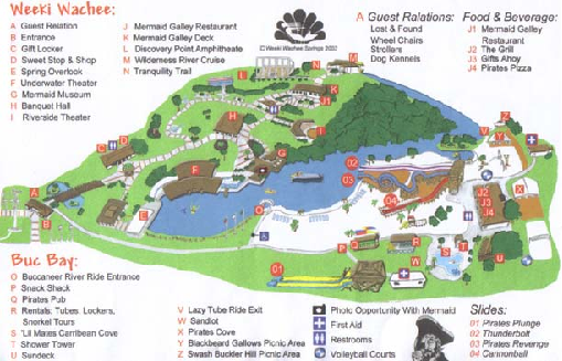 Weeki Wachee Springs State Park Map 6131 Commercial Way Spring