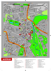 Weimar Tourist Map