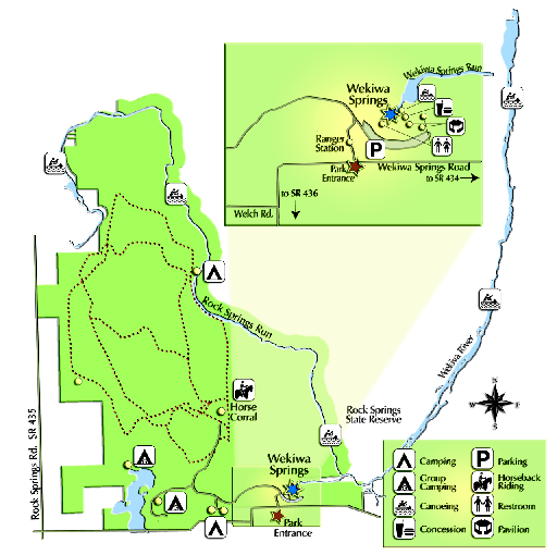 Wekiwa Springs State Park Map