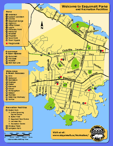 Welcome to Esquimalt Parks  and Recreation Facilities Map
