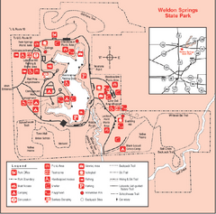 Weldon Springs State Park, Illinois Site Map
