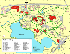 Wellesley College campus map