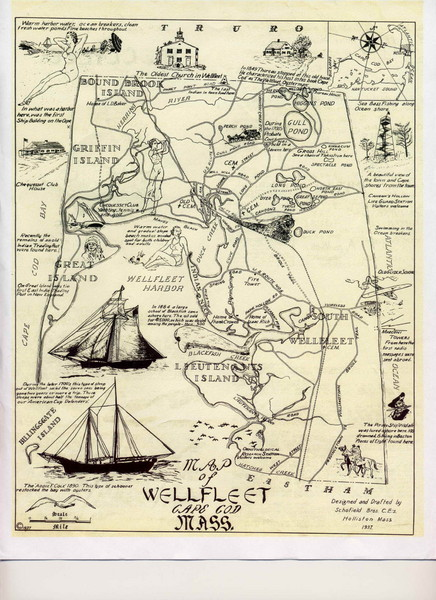Wellfleet 1930s Tourist Map