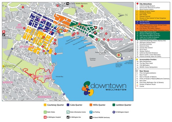 Map Wellington New Zealand.Wellington Tourist Map Wellington New Zealand Mappery
