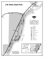 Wells State Park, Michigan Site Map