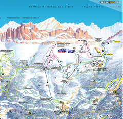 Welschnofen—Karersee (Carezza) Ski Trail Map