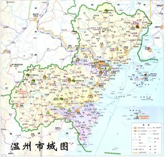Wenzhou Area Tourist Map