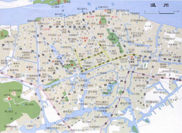 Wenzhou Tourist Map