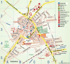 Wesselburen Tourist Map