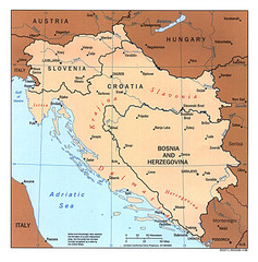 West Balkan States Tourist Map