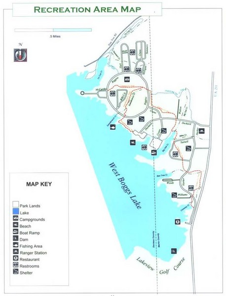 West Boggs Park Map