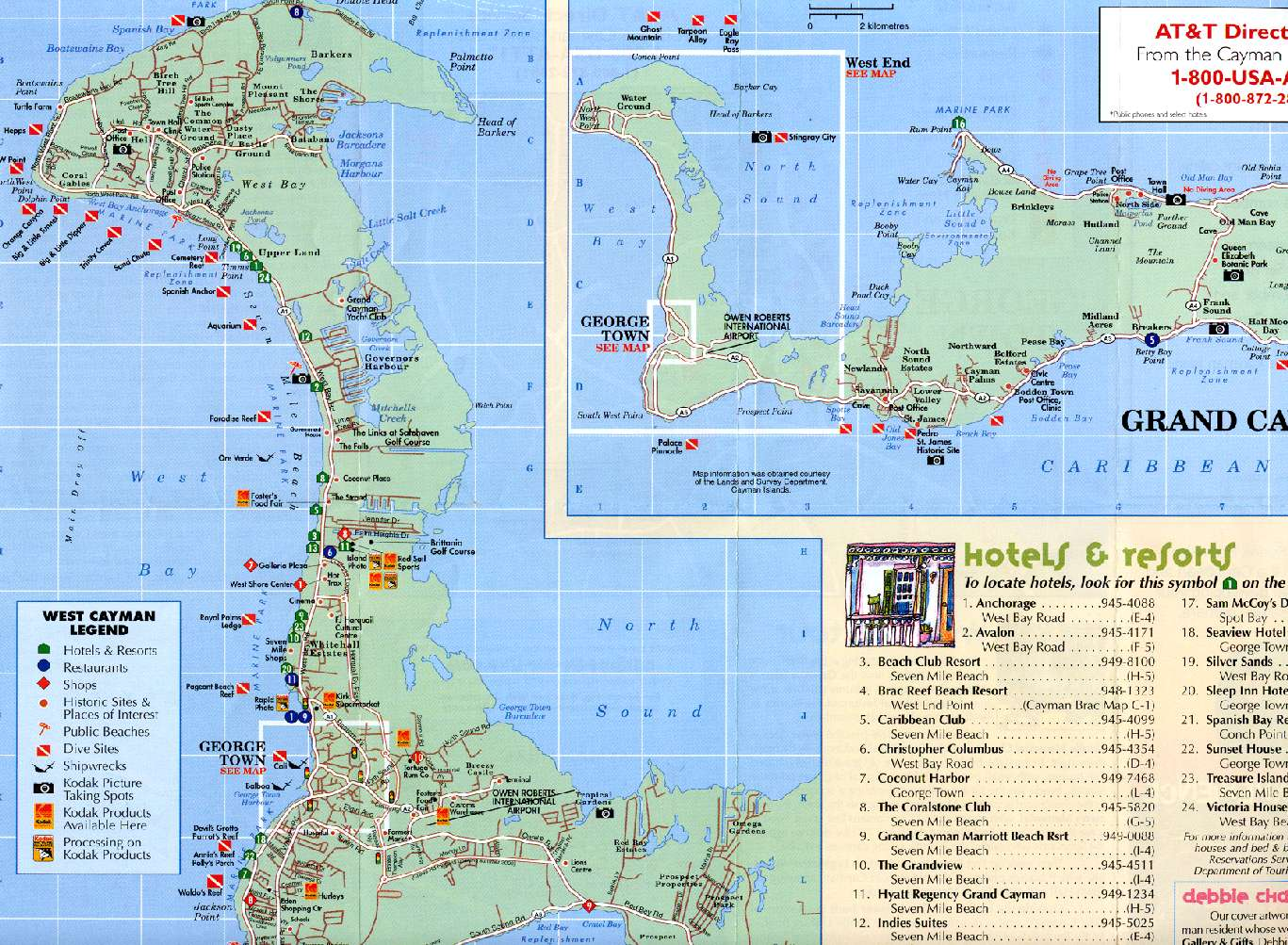 Georgetown Grand Cayman Map
