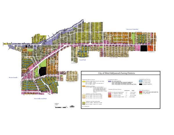 West Hollywood Zoning Map 10/08/09