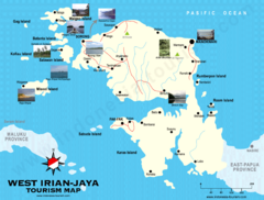 West Irian Jaya Tourist Map