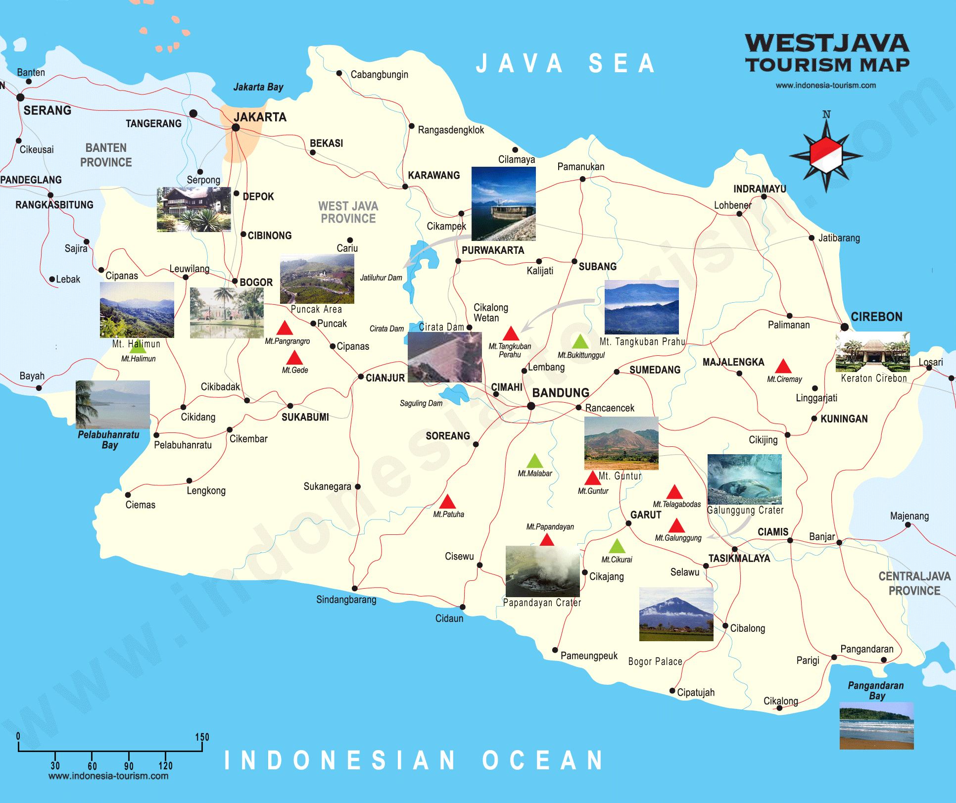 West java tourist map west java mappery sciox Gallery