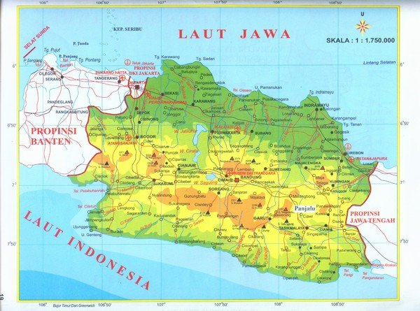 map of java. Fullsize West Java map