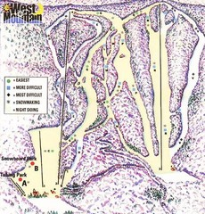 West Mountain Ski Area Ski Trail Map