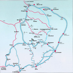 West Sichuan Trek Map