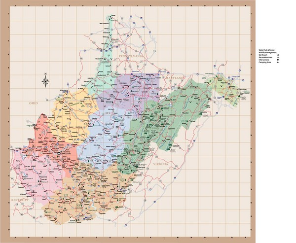 maps of west virginia. From wv.gov