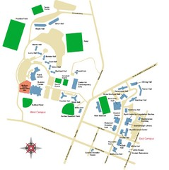 West Virginia University Campus Map