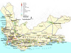 Western Cape Tourist Map